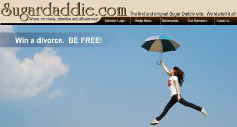 Marriage-Ending Contests - The Sugar Daddie Divorce Giveaway Encourages Couples to Call it Quits