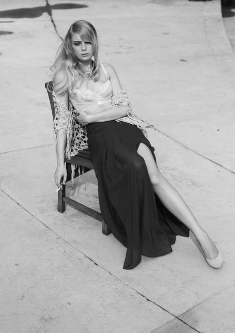Romantically Minimalist Grayscale Editorials - The DEW Magazine Issue 9 Photoshoot Stars Eva Celia