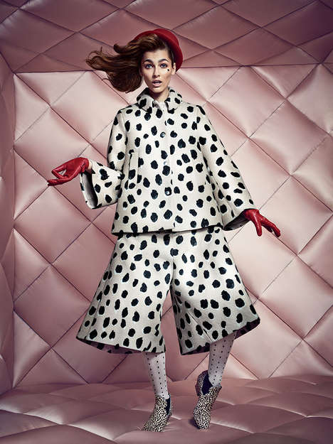 Stylishly Quirky Fashion Ads - The NK Fall Campaign Stars Model Vika Volkute