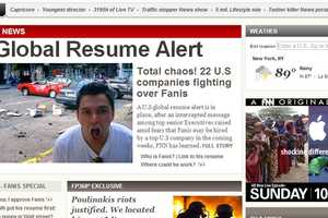 This Creative Online Resume Mimics the Homepage of CNN
