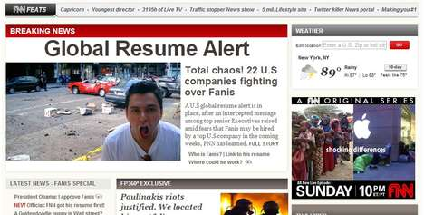 News Network Resumes - This Creative Online Resume Mimics the Homepage of CNN