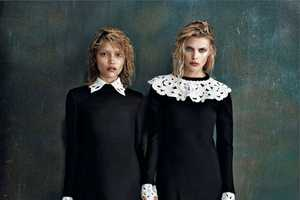 The Amica September 2013 Editorial Shows Sibling Interactions
