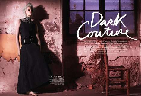 Darkened Juxtaposed Editorials - The Elle Vietnam September 2013 Editorial is Fierce and Urban