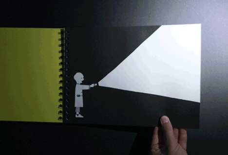 Flashlight-Activated Children's Books - 'Hide & Eek' by Knock Knock Encourages Nighttime Reading