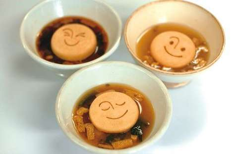 Smiling Soup Biscuits - These Emoticon Crackers are Packed with Delicous Miso Soup