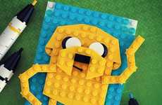 Pop Culture Block Portraits - Chris McVeigh Deftly Makes Cool Artwork Using Plastic LEGO Blocks