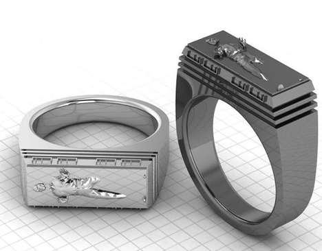 Classy Sci-Fi Accessories - The Han Solo Carbonite Ring Lets You Subtly Fly Your Geek Flag