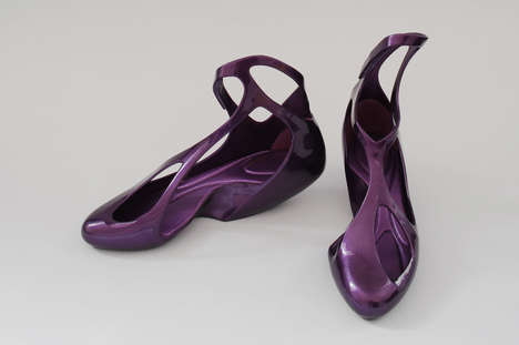 Fluid Plastic Footwear - The Melissa x Zaha Hadid Collaboration is a Match Made in Heaven
