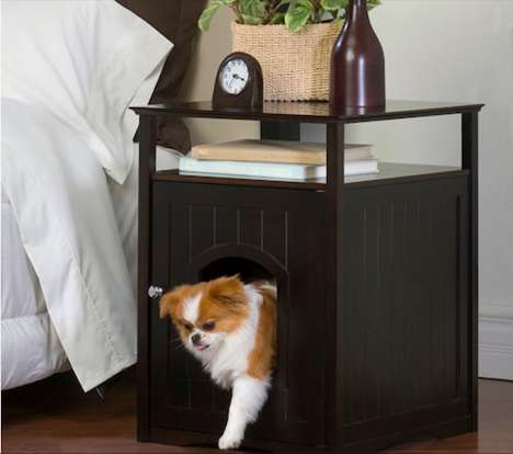 Pet-Loving Bedroom Furniture - Keep Your Animal Close When You Sleep with the Night Stand Pet House