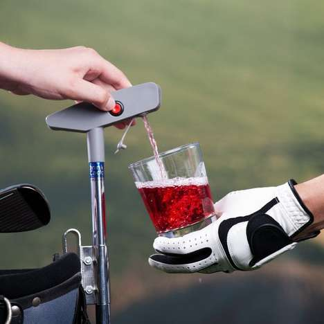 Caddy Drink Dispensers - The Putter Drink Caddy is a Convenient Way to Quench Your Thirst