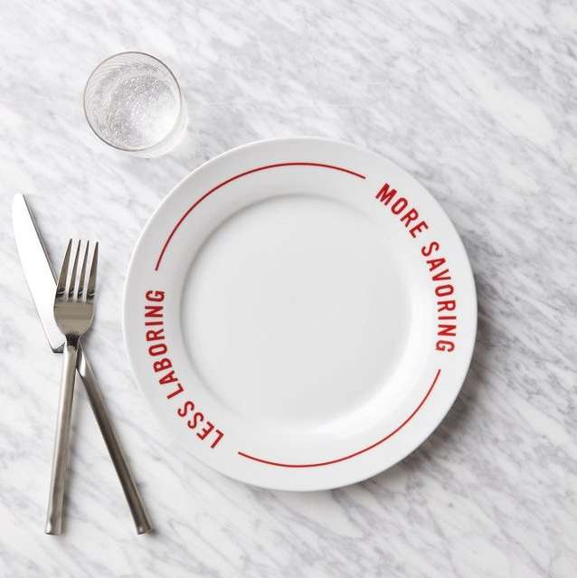 Clever Message Pizza Plates
