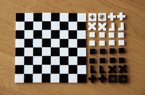 Wall Mounted Board Games Straight Up Chess