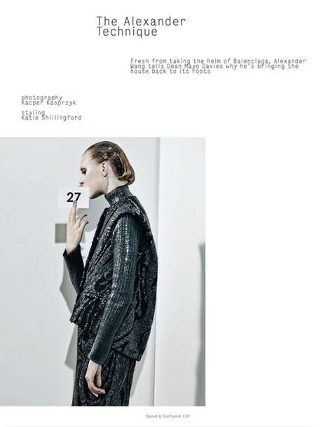 Numbered Fashion Editorials - Dazed & Confused