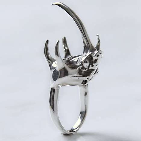Unconventional Bug Rings - This Statement Piece by Rachel Boston Uses the Head of an Atlas Beetle