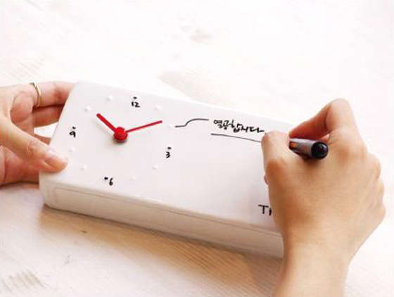 Writable Whiteboard Timepieces