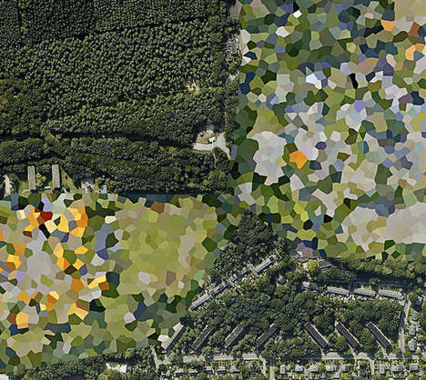 Censored Satellite Image Art - Dutch Landscapes by Mishka Henner Showcases Government Interference