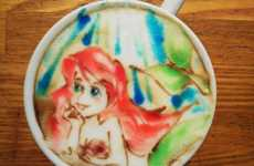Colorful Latte Art - Barista Yuuichi Ito Creates Vibrant Foam Paintings for Coffee Drinkers