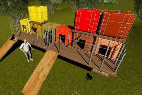 Upcycled Animal Shelters - This Initiative Turned Recycled Shipping Containers into Solar Shelters