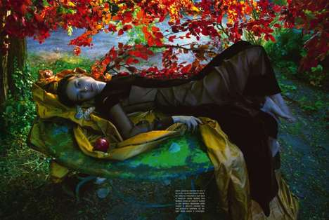 Forbidden Fruit Editorials - See the Story of Adam and Eve in this Camilla Akrans Vogue Italia Shoot