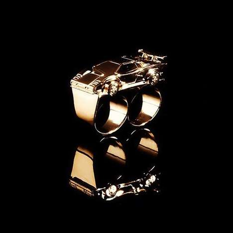 Luxe Rapid Rings - The 'Lambo Two-Finger Ring' Features the Ultimate Opulent Symbol