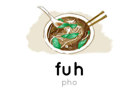 Food Pronunciation Illustrations - These Clever Illustrations are the Perfect Foodie Guide