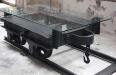 Upcycled Mining Cart Furniture