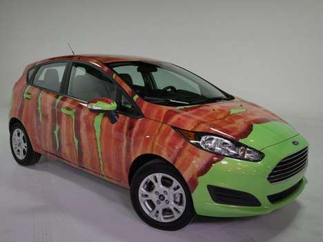 Bacon-Printed Autos - The Bacon-Wrapped Ford Fiesta is the Ultimate Internet Auto