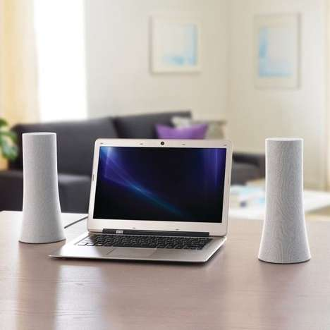 Cylindrical Wireless Speakers - The Z600 Logitech Speakers Combine Aesthetics and Functionality