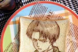 These Detailed Toast Anime Designs were Uploaded via Twitter by Hittomii