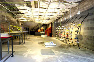 This Chinese Nike Store is Made from Recycled Objects