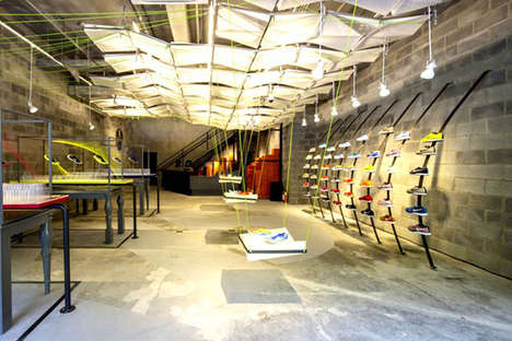 Recycled Material-Built Stores - This Chinese Nike Store is Made from Recycled Objects