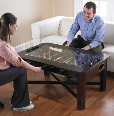 Sporty Breakfast Tables - The Foosball Coffee Table Lets You Score Goals and Sip Joe