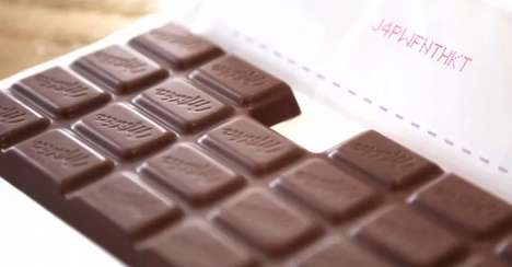 Sweet-Sharing Promotions - MILKA Helps People Show Love by Sharing the Last Square of Chocolate