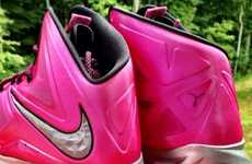 Fuchsia Charity Footwear  - The Lebron X 'Think Pink'  Supports Breast Cancer Awareness Month