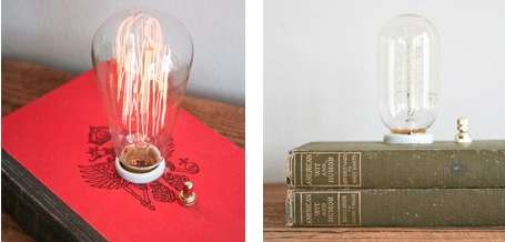 Crafty Book Lighting - Philip Hansen of Typewriter Boneyard Creates Literary Lamps