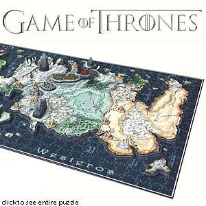 3D Medieval Series Puzzles - This 3D Map of Westeros Puzzle by Think Geek is Perfect for Superfans