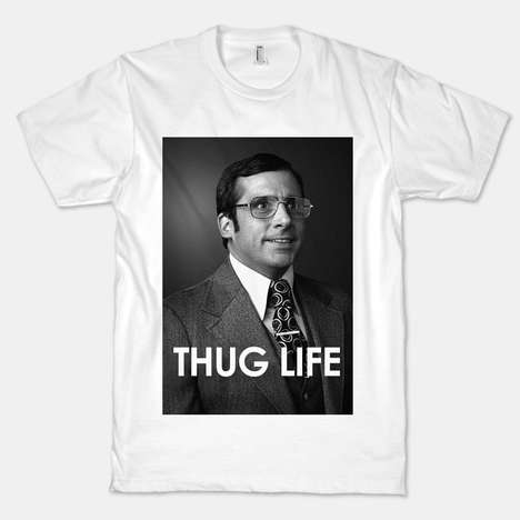 Ironic Newscaster Tees - This Anchorman T-Shirt Implies That Brick is Living the Thug Lifestyle