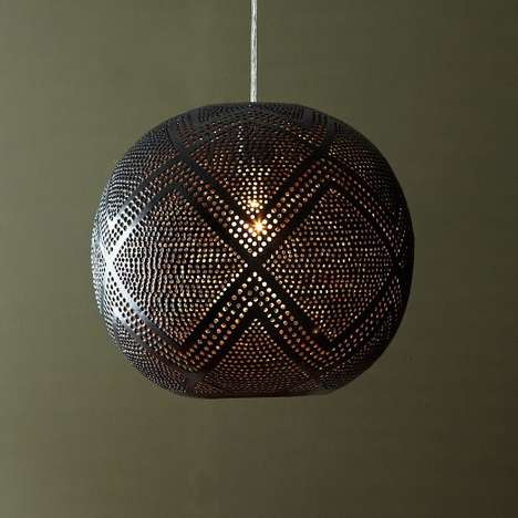 Perforated Globe Pendant