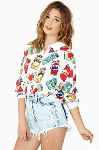 Nice Cans Crop Shirt