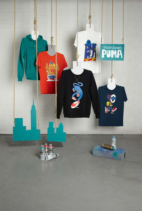 Artful Sportswear Collaborations - The PUMA x Todd James Fall/Winter 2013 Collection is Cartoon-Clad