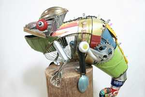 Natsumi Tomita's Recycled Metal Sculptures are Amazingly Intricate