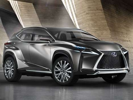 Touch-Friendly Crossover Concepts - The Lexus Lf-NX Features a Tactile Console and Hybrid Engine