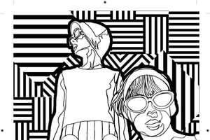 'Outside The Lines' is a Coloring Book for Adults Designed by Artists
