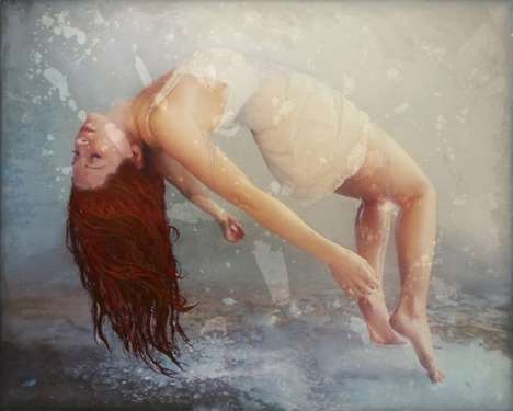Layered Underwater Paintings - Jessica Dunegan