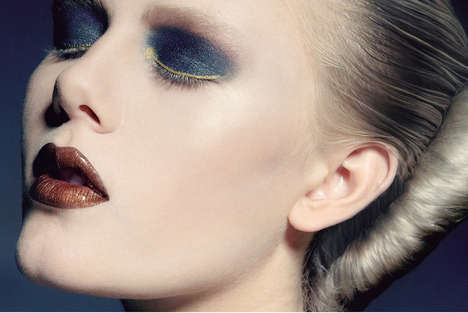 beauty editorial makeup smoky eye beetle colors