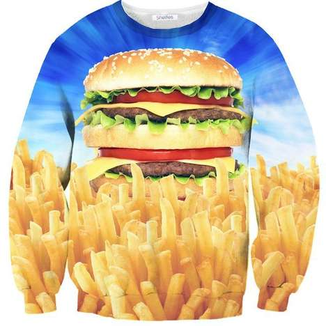 Realistic Burger-Inspired Sweaters - The
