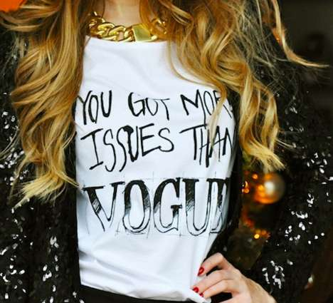 Bluntly Rude Apparel - This Vogue Tee Honestly Tells People They Have Problems