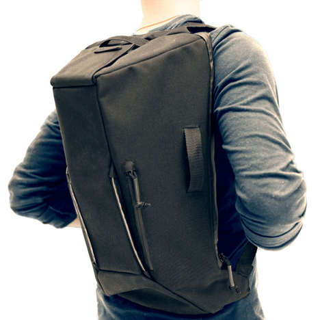 Solar-Powered Charging Backpacks - The Power Pack Stores Energy Using its Built-In Solar Panel