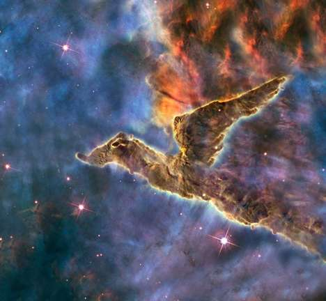 Cosmic Creature Art - NASA's Images Look Like Space Creatures