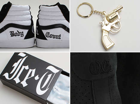 Rapper-Inspired Skate Shoes - Old School Rapper Ice-T Teamed Up with Vans for an Original Line